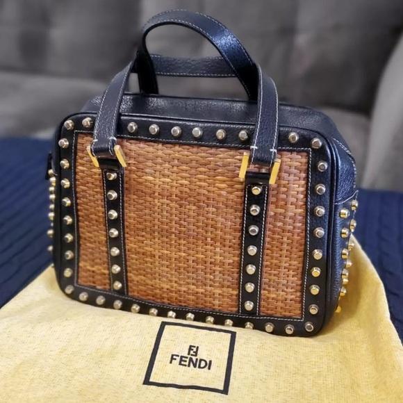 b6b2a6c72c Fendi Bags | Studded Leather Bag | Poshmark